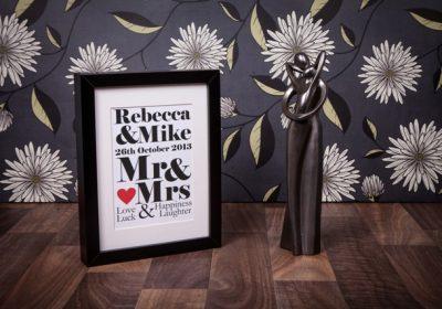 Wedding Day Personalised Print