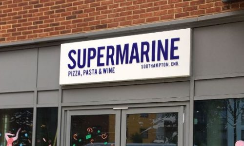 Shop Front with Cut Out Letters