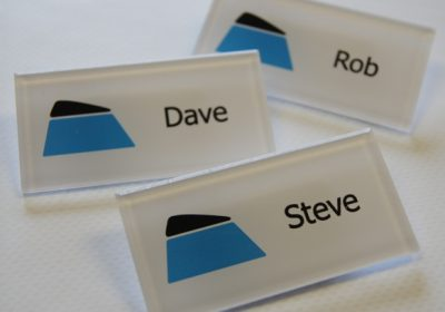 Acrylic name badges